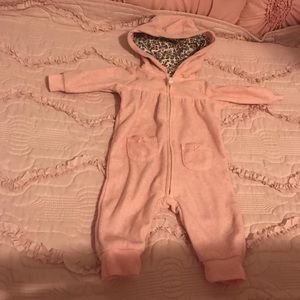 Carter's girls fleece jumpsuit